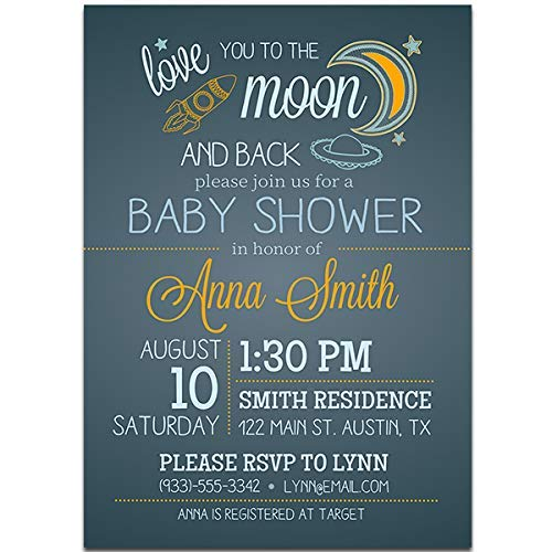 62cfe4ce96 Amazon.com: Love you to the Moon and Back Baby Shower Party ...