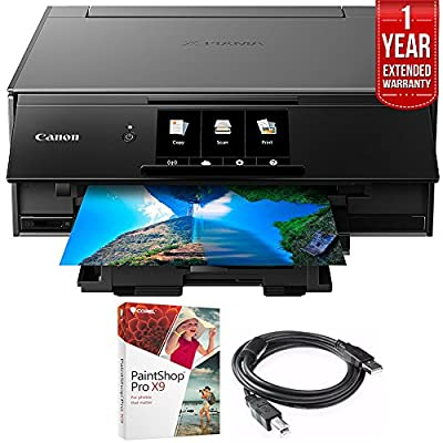 Canon PIXMA 9120 Printer with Corel Paint Shop Pro X9 Digital Download, Ink Tank and High Speed 6-foot USB Printer Cable