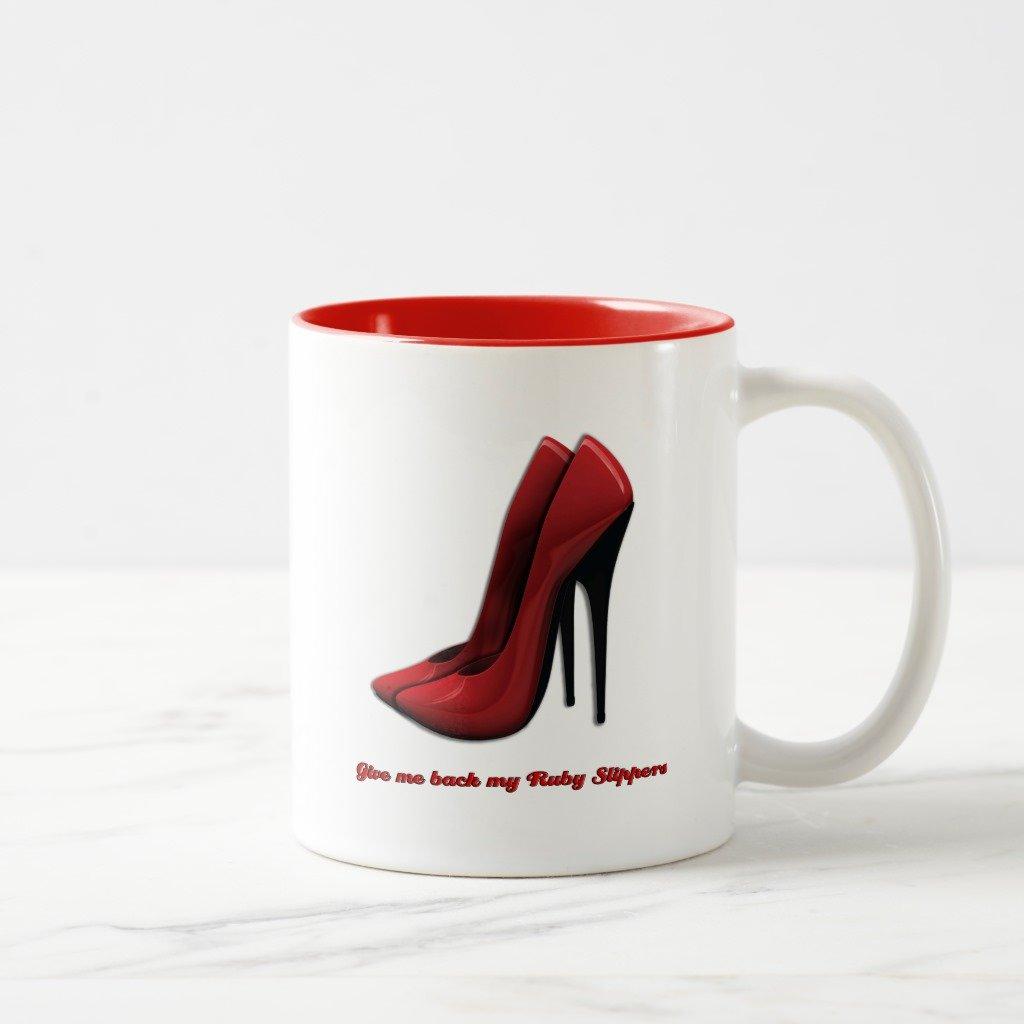 Zazzle Rubyスリッパコーヒーマグ 11 oz, Two-Tone Mug レッド 204a7bed-316e-7422-77d0-fa780f8ff310 B078G69JYG  レッド 11 oz, Two-Tone Mug
