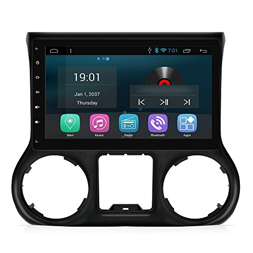 AIMTOM AMJK-101AD 2015-2018 Jeep Wrangler JK In-dash GPS Navigation Android Stereo Bluetooth A2DP 10.1 Inch HD Touch Screen AV Receiver FM AM Radio Multimedia Player Built-in Wi-Fi Infotainment System by AIMTOM (Image #8)