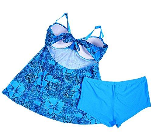MIAO Talla grande Traje de baño Cubrir el vientre Conservador División Traje de baño 4
