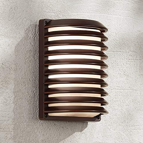 Modern Outdoor Wall Light Fixture Rubbed Bronze 10