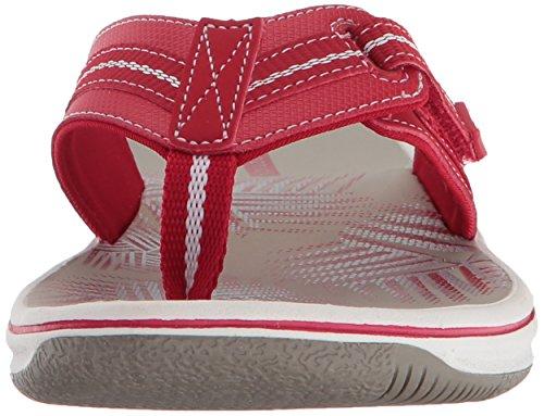 Clarks Jazz Women's Flop synthetic Flip Brinkley Red xnSwxO4