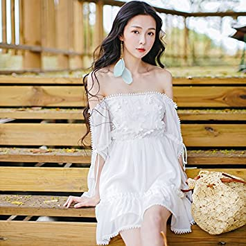 Mayihang vestido Verano Beach Resort Playa Blanca Falda Falda Gasa ...