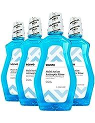 Amazon Brand - Solimo Alcohol-free Fresh Mint Multi-Action...