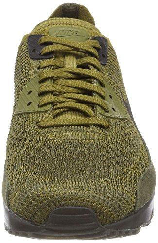 Nike Air Max 90 Ultra 2.0 Flyknit, Scarpe da Ginnastica Basse Uomo Verde (Olive Flak/Black-cargo Khaki 302)