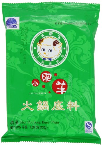 Little Sheep Hot Pot Soup Base (Plain), 130-Grams (Pack of 5)