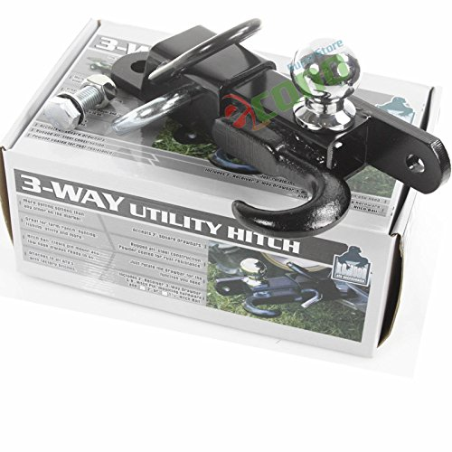 "off Road Atv Receiver Trailer Hitch 2"" 3 Way Ball Tow Hoo..."