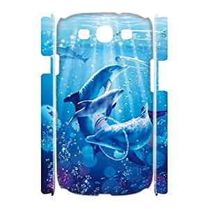SOPHIA Phone Case Of cute Dolphins Cool Painting For Samsung Galaxy S3 I9300