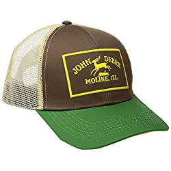 John Deere Men's Twill and Mesh Cap Embroider