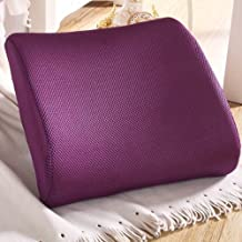 High Density Memory Foam Purple Seat Back Pain Support Mesh Fabric Cushion Pillow Pad Car Office Chair Lumbar Lower ache (Purple)