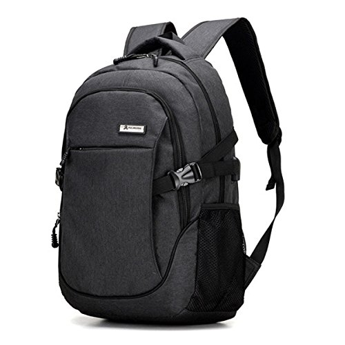 Bag Black Water TOOGOO Gray Backpack Charging Notebook Usb Polyester Laptop Port with Resistant Business and ggx67rq