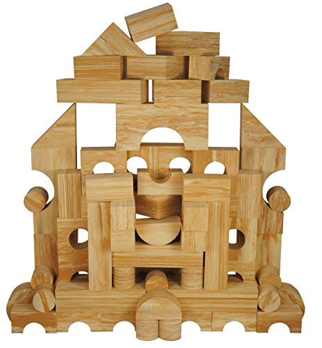 Non-Toxic 70 Piece Non-Recycled Quality Wooden Finished Foam Wonder Blocks for Children: Soft, Quality, Waterproof, Bright Safe & Quiet Foam Wooden Blocks