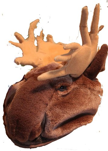 Moose Furry Plush Animal Hat - One Size Fits All, Unisex]()