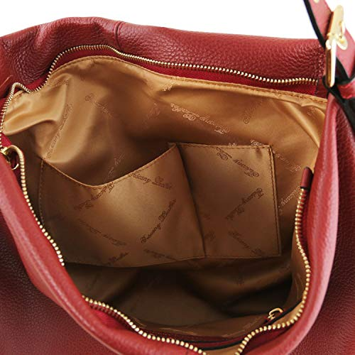 Souple Cuir Tlbag Tuscany Hobo En Rouge Champagne Sac Leather wZawYT
