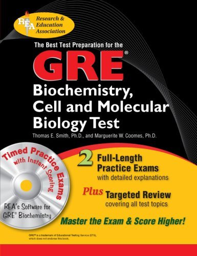GRE Biochemistry, Cell and Molecular Biology w/CD-ROM - The Best Test Prep (GRE Test Preparation) by Smith Thomas E. Coomes Marguerite Wilton (2007-12-19) Paperback