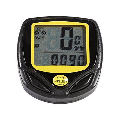 Bike Computer Wireless Bicycle Speedometer, Bike Odometer Cycling Waterproof Durable Multi Function Stopwatch With LCD Display Speedometer by Vbestlife