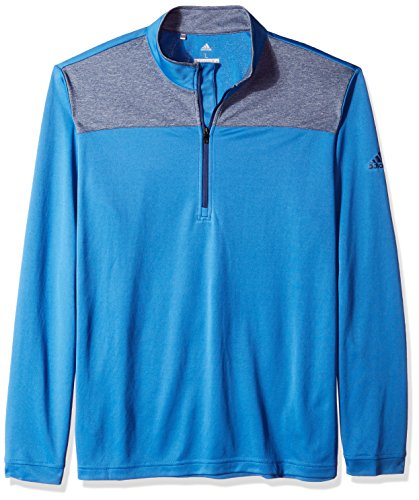 adidas Golf Men's Lightweight UPF 1/4 Zip Pullover Jacket, Trace Royal, Large (Rain Golf Pullover)