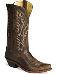 Old West Womens Distressed Leather Cowgirl Boot Snip Toe - Lf1534