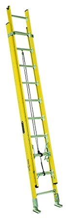 Louisville Ladder Fe4216 Hd Fiberglass Extension Ladder, 16 Feet, 375 Pound Duty Rating by Louisville Ladder