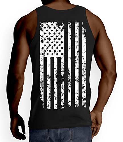 Mens White American Flag T shirt