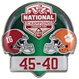 2016 College Football National Champs Dueling Pin With Score - Alabama vs. Clemson