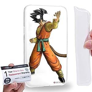 Case88 [Samsung Galaxy J7] Gel TPU Carcasa/Funda & Tarjeta de garantía - Dragon Ball Z GT AF Son Goku Son Goku 0601