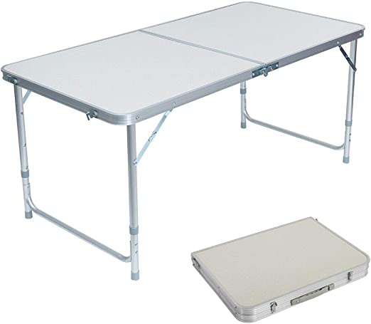 Compact Table Folding Picnic Party Dining Desk Aluminum Camping Table Outdoor US