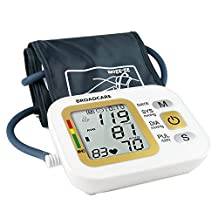 BROADCARE Arm Blood Pressure Monitor USB Rechargeable Digital Fully Automatic Measure Blood Pressure and Heart Beat with cuff, Accuracy&Easy, FDA Approved