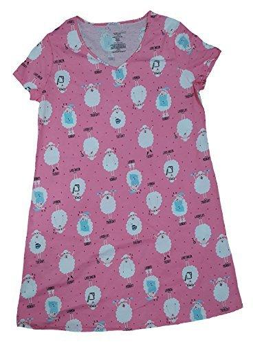 c3cd764103 Secret Treasures Sheep Days Of The Week Rose Incarnate Pink Nightgown Long  Sleepshirt - S