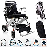 2019 UPGRADED Folding Electric Powered Wheelchair, Supports up to 265 lb, Weighs 50lb, Up to 12 Miles Range with 2 Batteries, Approved for Airplane Travel, Safe and Easy to Drive. Model N5513A