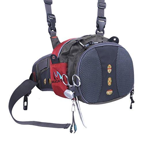 M MAXIMUMCATCH Maxcatch Fly Fishing Waist Bag Lightweight Waist Pack Line Nipper&Tippet Holder&Forceps (Best Fly Fishing Waist Pack)