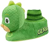 PJ Masks Toddler Boy's Gekko Head-on-Top Socktop Slipper, Green, M (7-8)