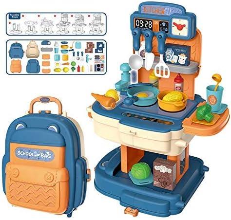 twisha enterprise kitchen set toy for kids girls (kitchen school bag pink)- Multi color