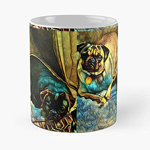 Spike Delilah Pug Pugs - Coffee Mug Best Gift 11 Oz Father Day (Delilah Dark Chocolate)