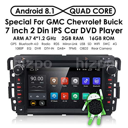 - Android 8.1 Car Stereo Chevy Silverado GMC Sierra Acadia Yukon DVD Player, GPS, WiFi, Support Android Auto, Backup Camera, Touch Screen