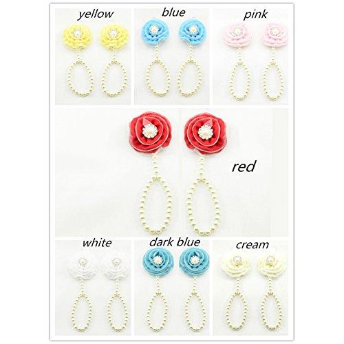 Accéssoire, apoyo de perlas, diseño de pies, color azul y verde