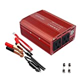 UCERAMI Power Inverter 350W DC 12V to 110V AC Car Inverter with 4.2A Dual USB Car Charger(Red)