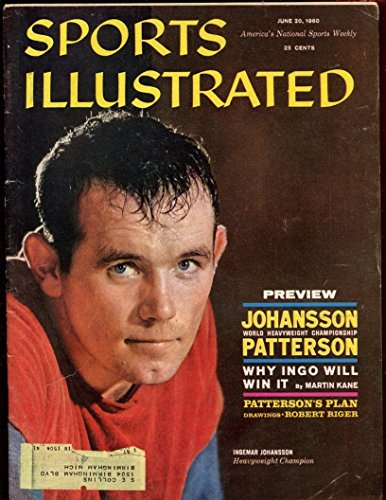 June 20 1960 Sports Illustrated Magazine With Ingemar Johansson Cover EX+