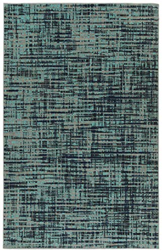 (Kaleen 2' x 3' Area Rug in Turquoise, Indoor/Outdoor Zuma Beach)