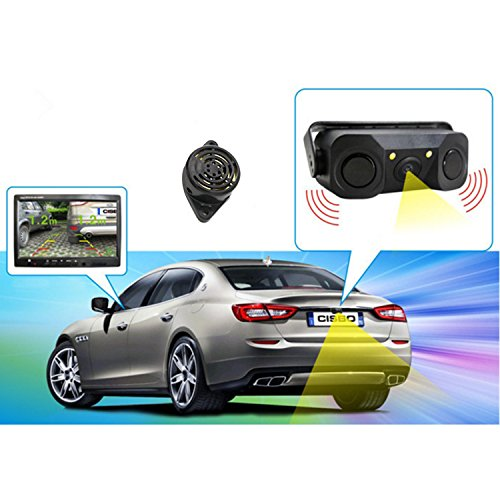 kiptop car reverse backup radar system waterproof night. Black Bedroom Furniture Sets. Home Design Ideas