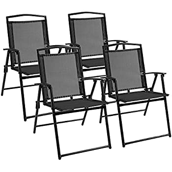 Amazon Com Giantex 4 Pack Patio Folding Chairs Portable