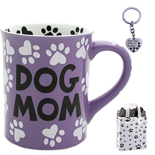 (Dog Mom Coffee Mug, Paw Print Keychain & Bag - Multi-Pack Dog Lovers Gift)