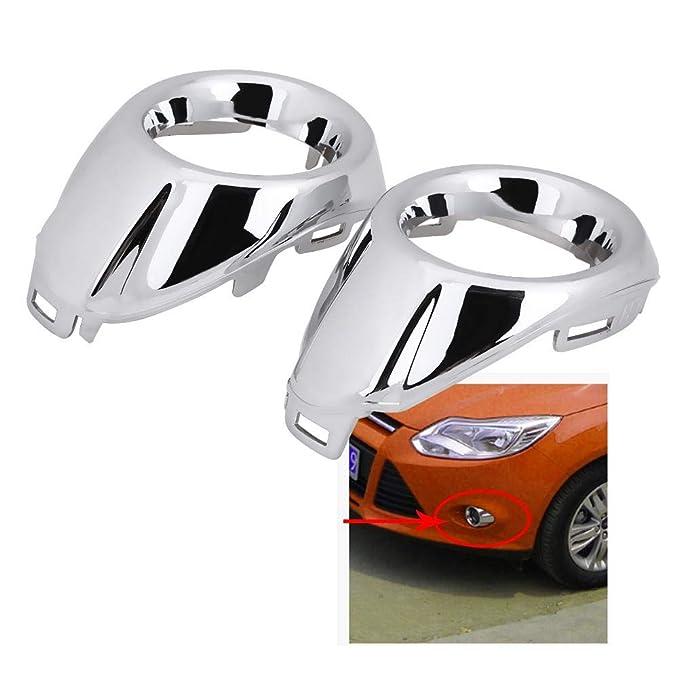 Delaman Lot de 2 protections pour phare antibrouillard avant de voiture pour Ford Focus 3 MK3 2012-2013