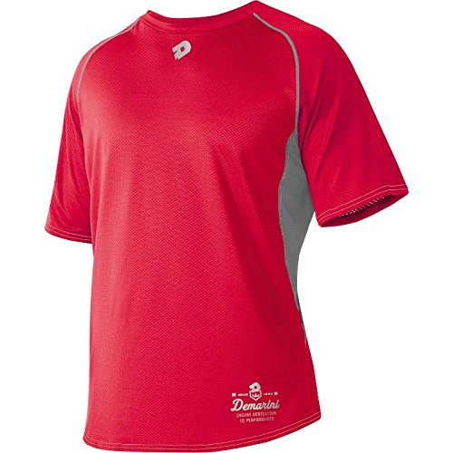 DeMarini Men's Game Day Short Sleeve Shirt, Scarlet, Large