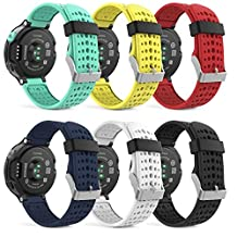 MoKo Watch Band for Garmin Forerunner 235, [6 PACK] Soft Silicone Replacement Watch Band for Garmin Forerunner 235 / 220 / 230 / 620 / 630 / 735 Smart Watch, 6PCS (Multi-Colors)