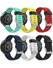 MoKo Band Compatible with Forerunner 235, [6 PACK] Silicone Replacement Watch Band fit Forerunner 235/235 Lite/220/230/620/630/735XT Smart Watch, 6PCS