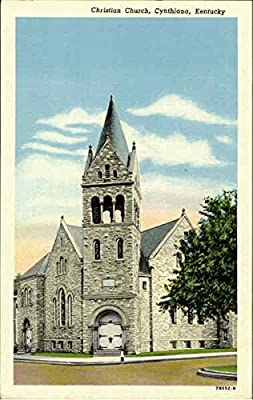 Christian Church Cynthiana, Kentucky Original Vintage Postcard