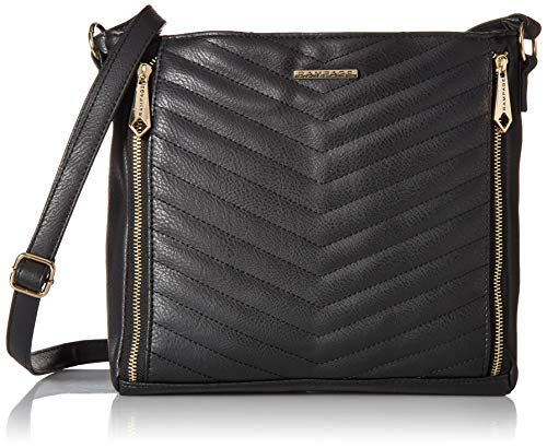 - Rampage Womens Chevron Quilted Hobo Black One Size