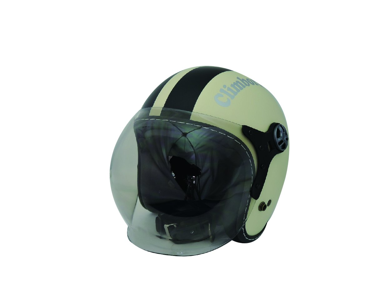 HEAT GROUP クリムボーダー シールド付き ジェットヘルメット マットアイボリー/マットブラック 57~60cm SG規格排気量無制限 CB-01IV/BK B01E6XOKAM